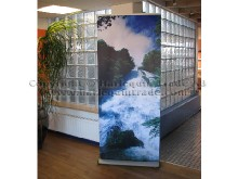 High end roll up banner
