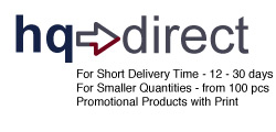 HQ Direct - Short Delivery time - Promotional Products with Print
