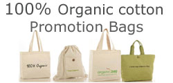 Promotion bags in organic cotton